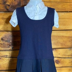 FRENCH TOAST 2-in-1 PLEATED SCHOOL UNIFORM  SZ 6
